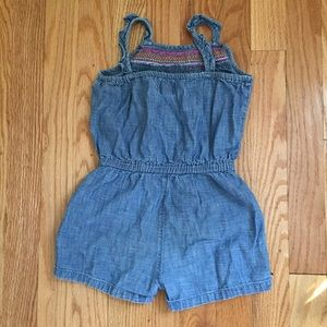 c0954020483 GAP Bottoms - BabyGap chambray embroidered romper